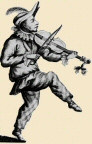 [engraving of violinist]